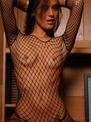 Pictures of All Over Lexi  in a fishnet body suit