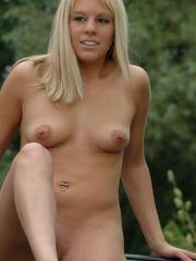 Allison Virgin gets naked outside