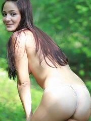 Pictures of Annabelle Angel getting naked outside