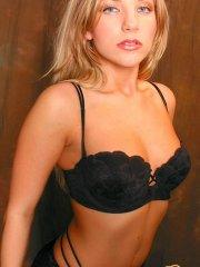 Pictures of Ashley Fires wearing hot lingerie