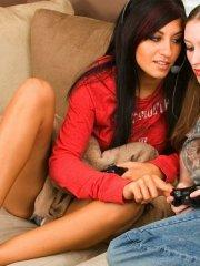 Pictures of teen porn girl Ava Knight having hot lesbian sex with Raven Riley