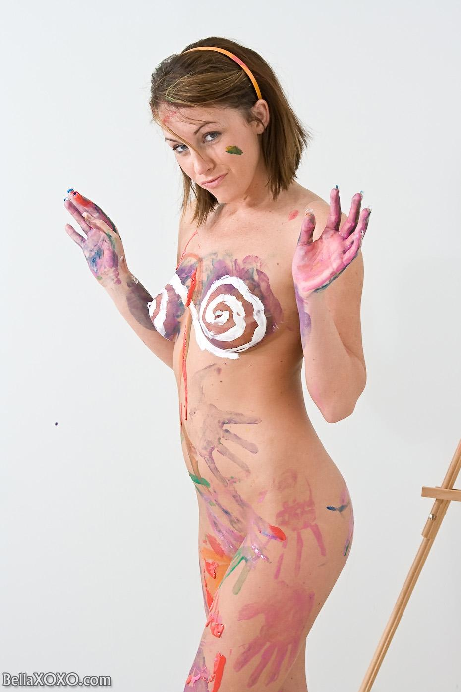 Body painting nude in public part 1 making of