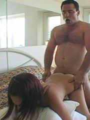 Pictures of Brandi Belle fucking an old fat guy