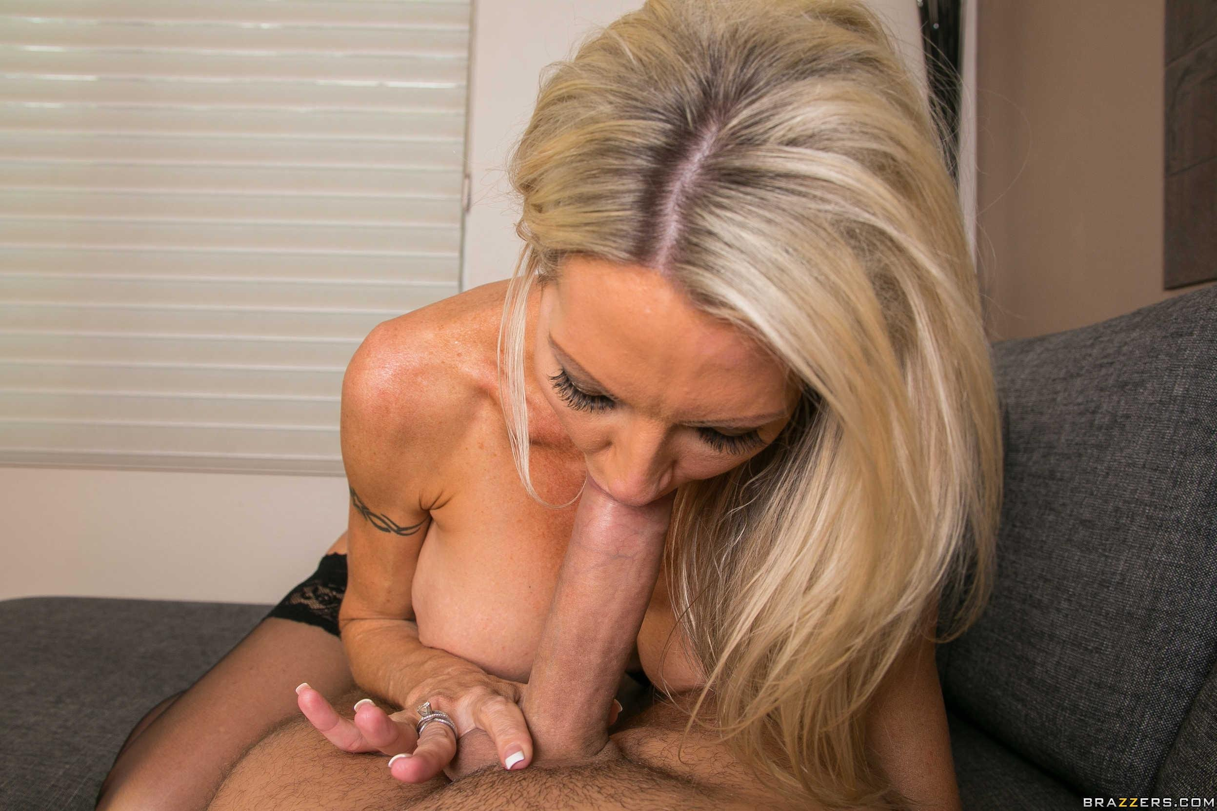 Goldie on a dildo