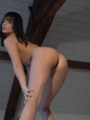 Pictures of Sasha Cane showing her tight body