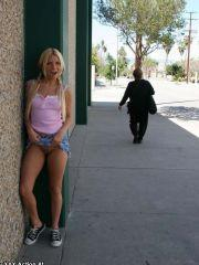 Pictures of Casey Parker flashing in public