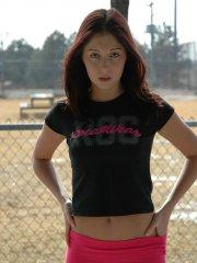 Pictures of teen Cassie Leanne giving a hot tease outside