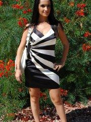 Pictures of teen girl Corin Riggs teasing in a dress