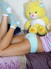 Pictures of Dawn Avril in panties and socks