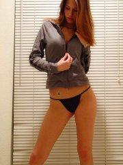 Jayden wearing a sweater and panties