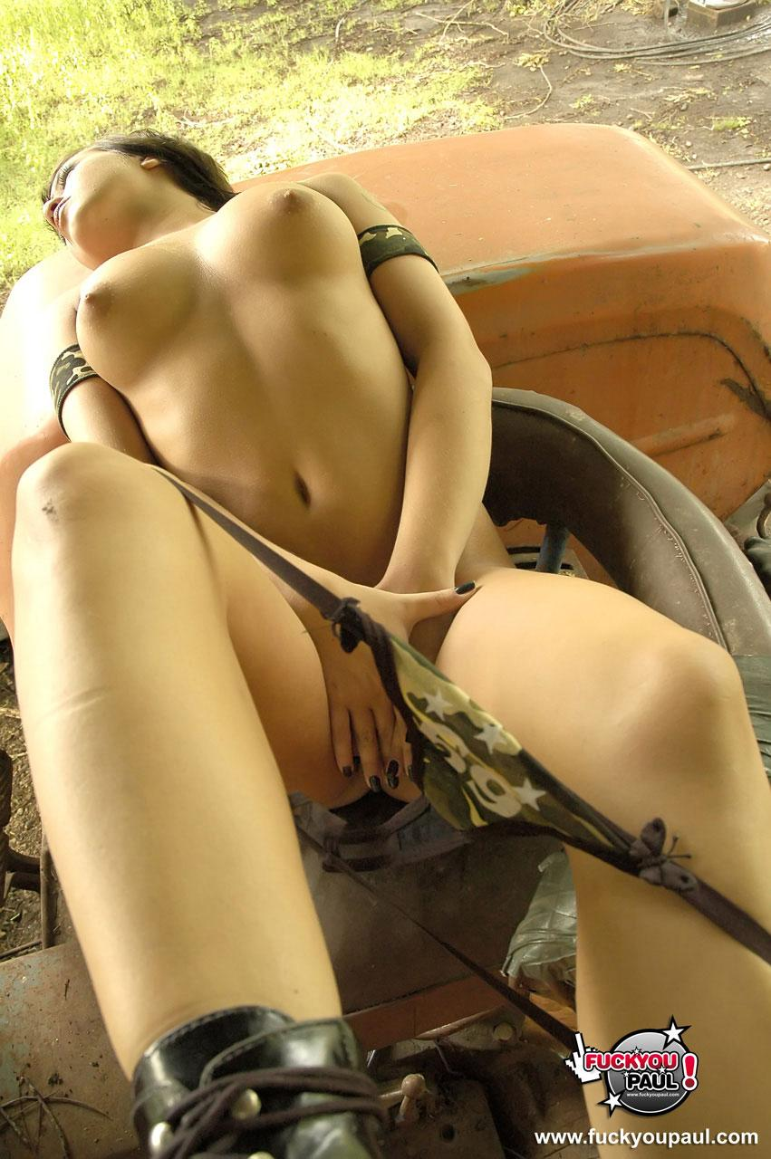 tractor on deere girl Naked john