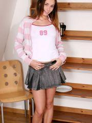Pics of Gigi Lightspeed teasing in her socks and a skirt