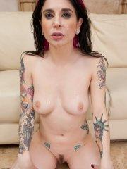 Pictures of Joanna Angel getting gangbanged deep and hard