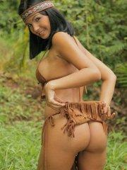 Pictures of teen star Karla Spice dressed as a sexy native