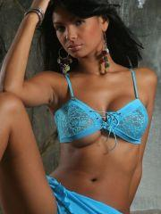 Karla Spice shows off her body in some skimpy lingerie