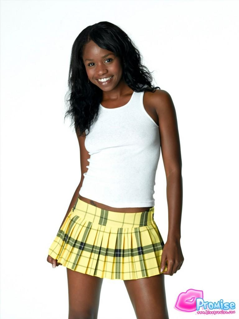 Amateur black teen school first time the 4