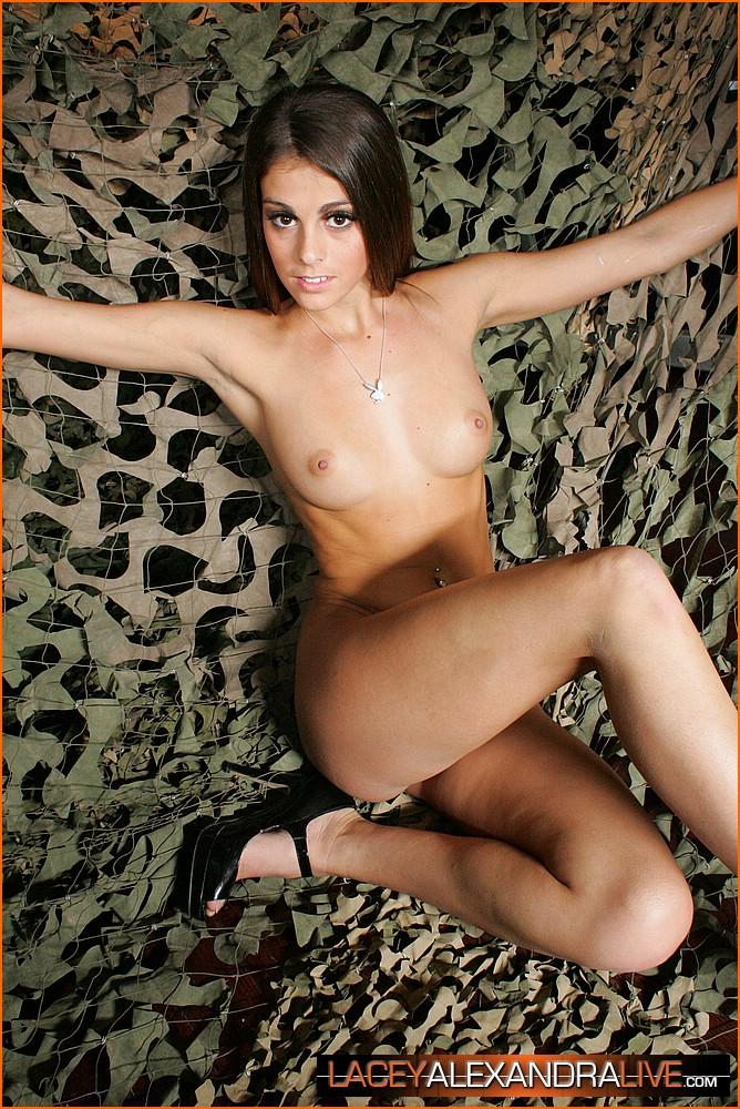 Pictures Of Lacey Alexandra Naked In A Camo Net  Coed Cherry-9491