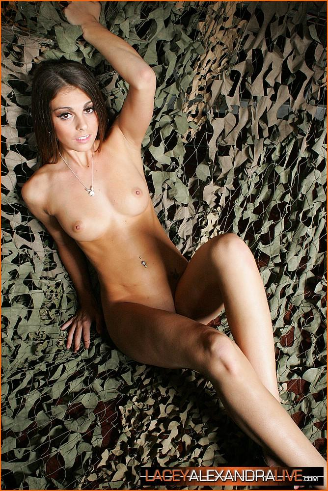 Pictures Of Lacey Alexandra Naked In A Camo Net  Coed Cherry-9108