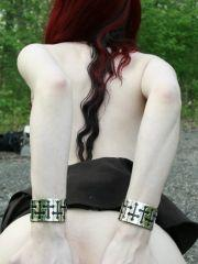 Pictures of Liz Vicious getting naked outside