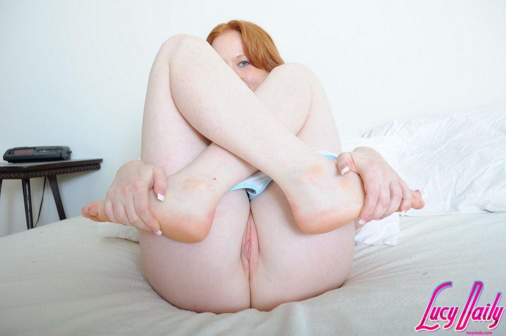 Lucy Daily Gets Naked And Shows Off Her Pussy