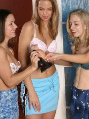 Pictures of Mandy Lightspeed being frisky with her girlfriends