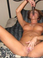 Pictures of Melissa Midwest  playing with herself in bed