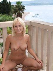 Pictures of Veronika J completely naked on the balcony