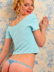 Pictures of Nastya Girl doing a nonnude tease