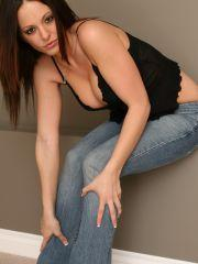Pictures of Natalie Sparks in a corset and jeans
