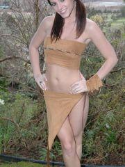 Pictures of Natalie Sparks as an indian daughter