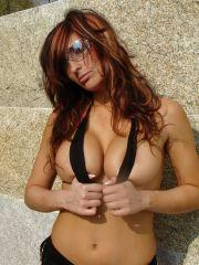 Pictures of a hot latina flashing her tits