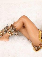 Pictures of Polliana dressed as a sexy indian girl