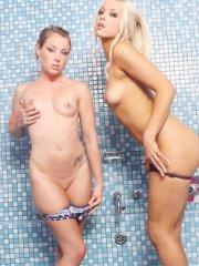 Pictures of Stacey Rocks getting wet with her girlfriend