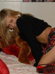 Pictures of teen Teen Kasia being a naughty schoolgirl in bed