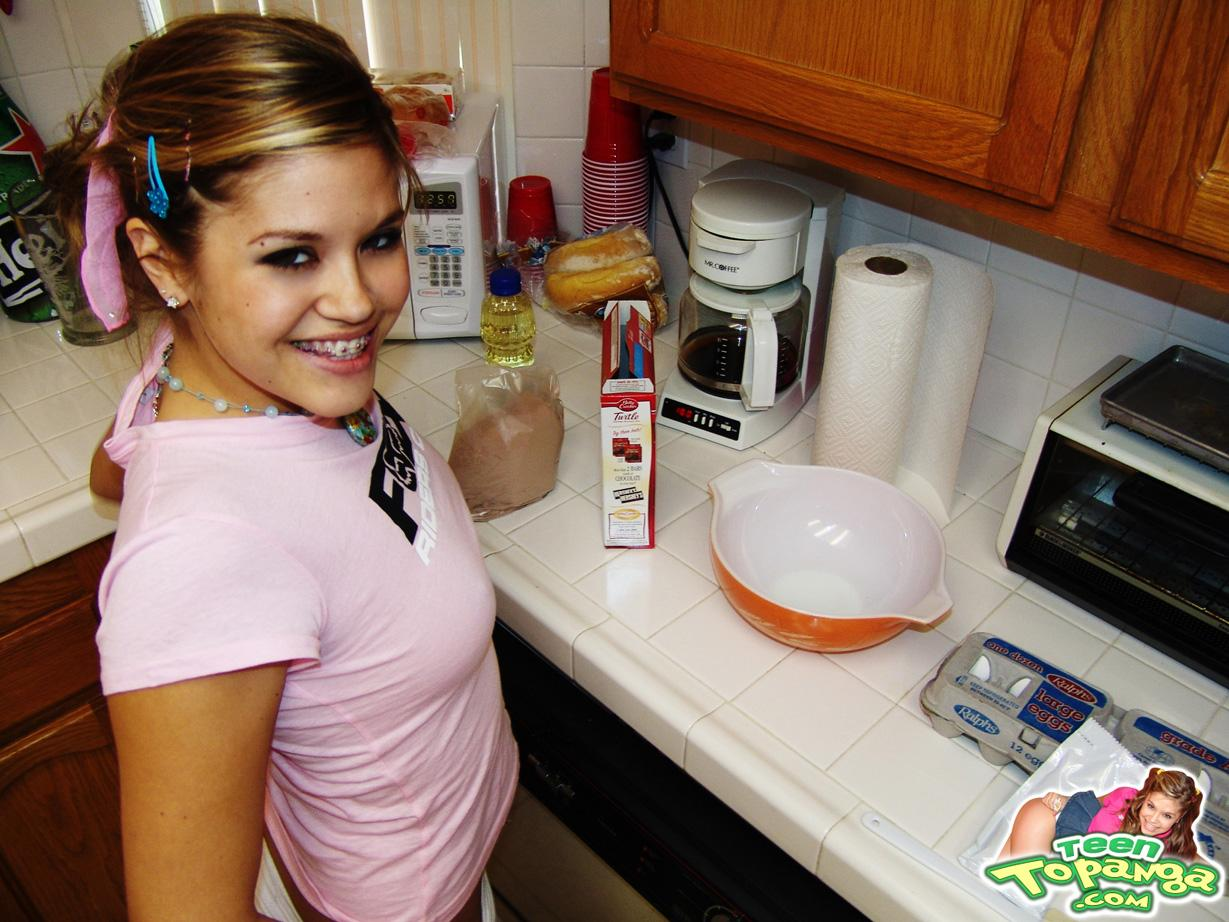 teen topanga in the kitchen pictures