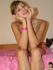 Trixie Teen gets all naked in her bedroom